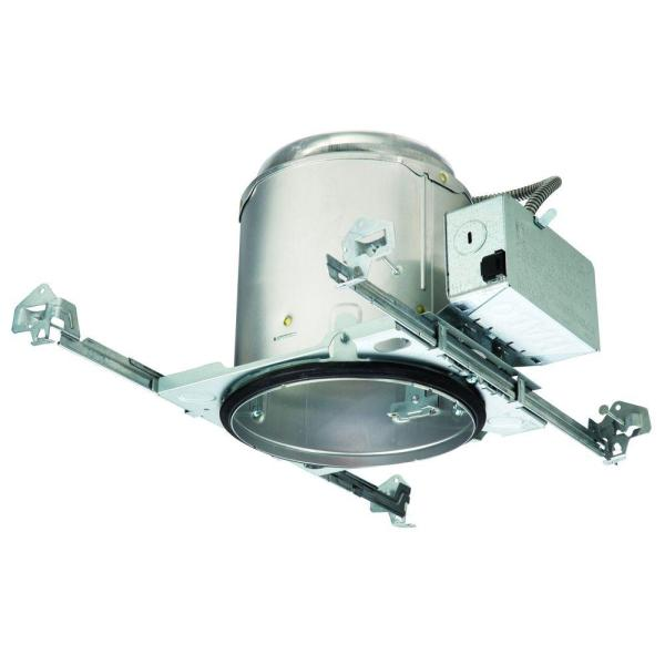 6 in. Aluminum E26  New Construction Recessed Lighting Housing for Ceiling, Insulation Contact, Air-Tite