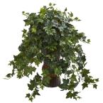 Indoor Ivy Artificial Plant in Bamboo Planter
