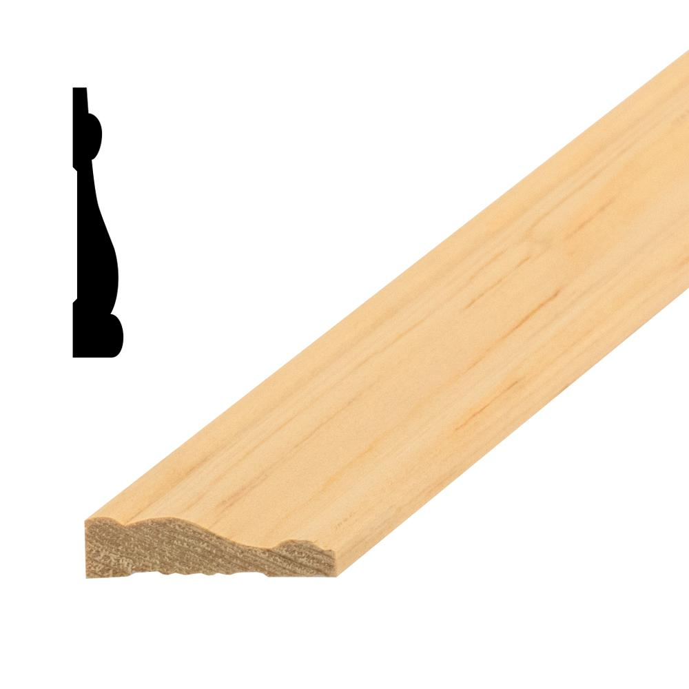 OP3005 1/2 in. x 1-1/2 in. Random Length Solid Pine Casing