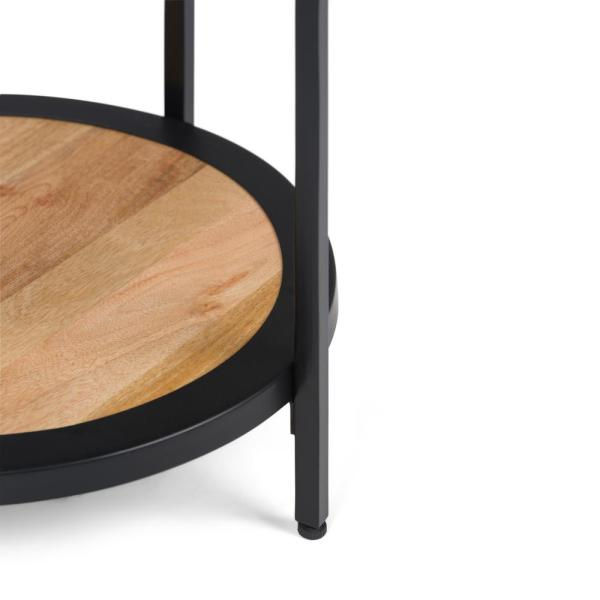 Natural Simpli Home Jenna Round Side Table