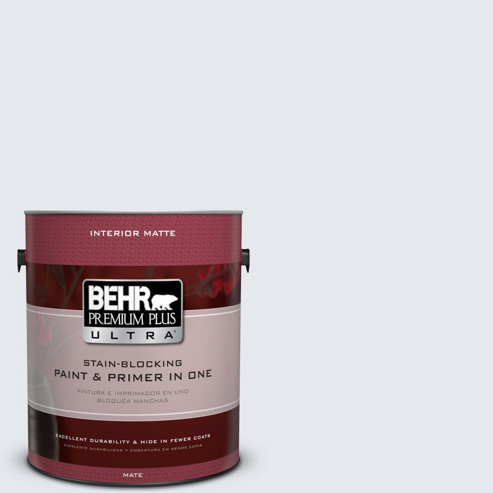 BEHR Premium Plus Ultra 1 gal. #PPL-54 Snow Cloud Flat/Matte Interior Paint