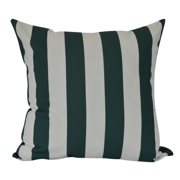 20 in. Rugby Stripe Indoor Decorative Pillow PS866GR46-20