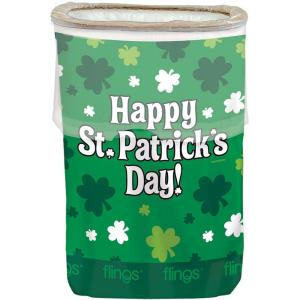 Amscan 22 inch x 15 inch Happy St. Patrick's Day Plastic Pop Up Trash Bin (3-Pack) by Amscan