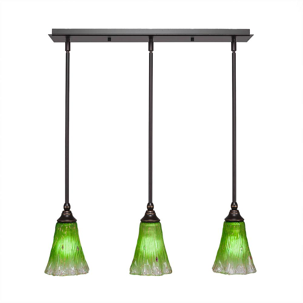 Cambridge 3-Light Dark Granite Island Pendant