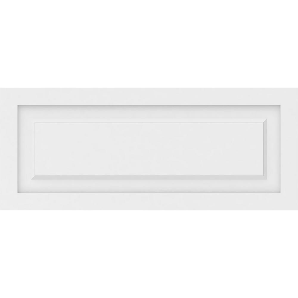 Ekena Millwork 5/8 in. x 2-5/6 ft. x 1-1/6 ft. Harrison Raised Panel White PVC Decorative Wall Panel