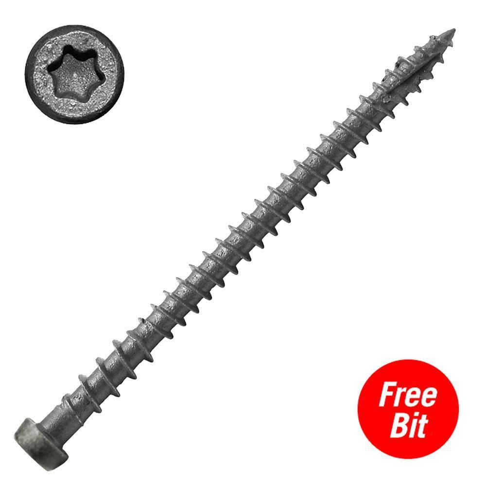 #10 x 2-3/4 in. Star Drive Self-Countersinking Flat Head ACQ Compatible Sand Ridge Composite Deck Screws (75 per Pack)