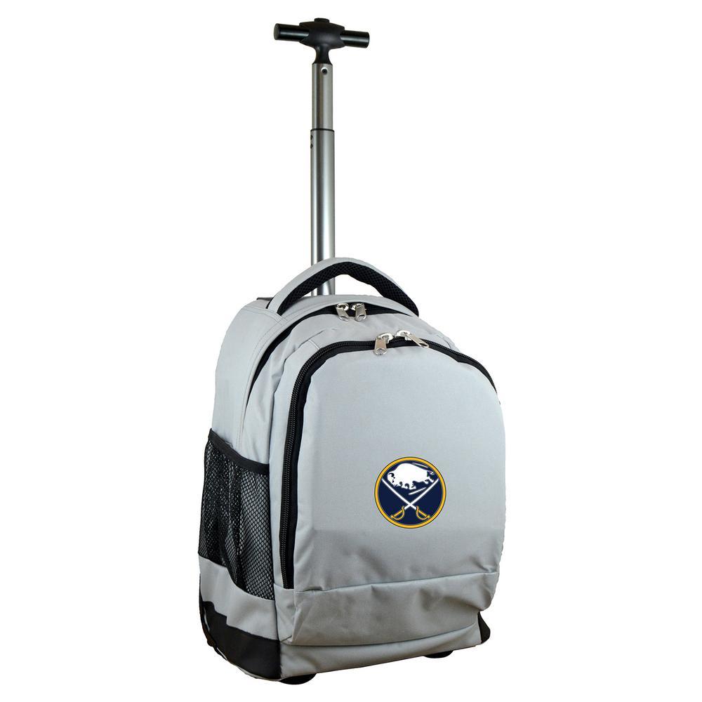 NHL Buffalo Sabres 19 in. Gray Wheeled Premium Backpack