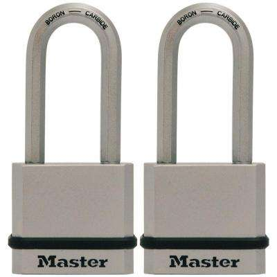 Magnum 1-3/4 in. Solid Steel Padlock with 2 in. Shackle (2-Pack)