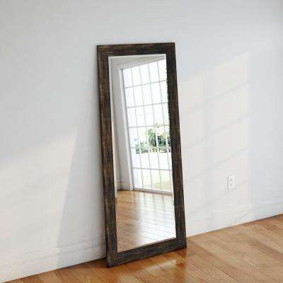 30.5 in. x 71 in. Brushed Classic Brown Beveled Oversized Full Body Mirror