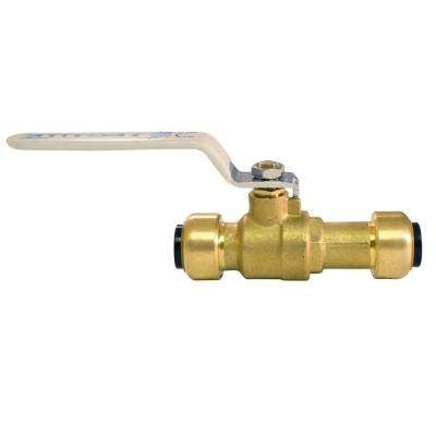 1/2 in. Brass Push-to-Connect Slip Ball Valve