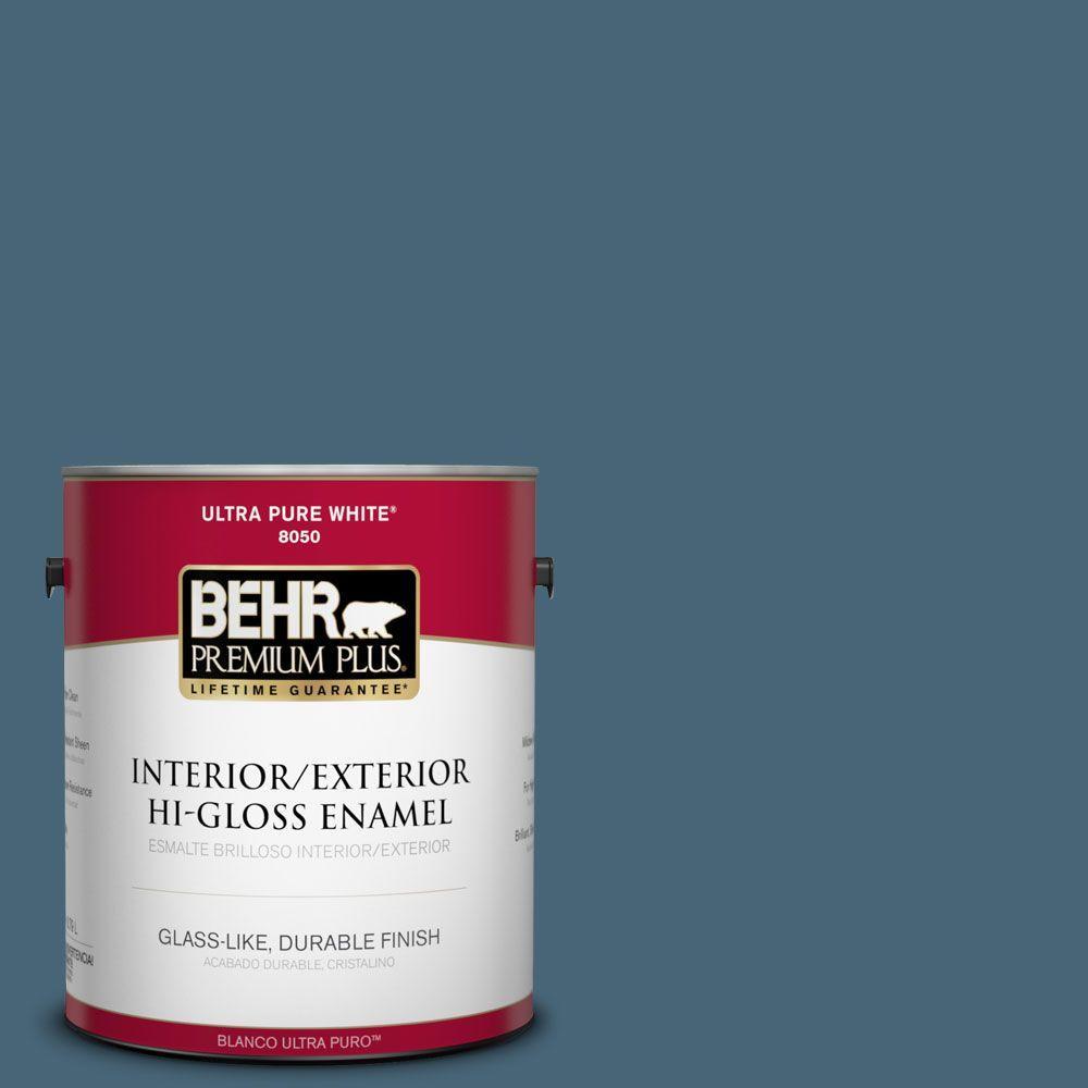 1-gal. #HDC-WR15-6 Winter Evening Hi-Gloss Enamel Interior/Exterior Paint