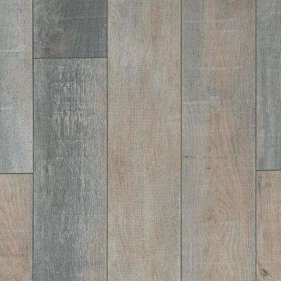 Foggy Hollow Oak Laminate Flooring - 5 in. x 7 in. Take Home Sample