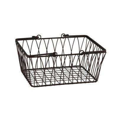 Twist 11.125 in. W x 10 in. D x 5.25 in. H Medium Basket in Bronze