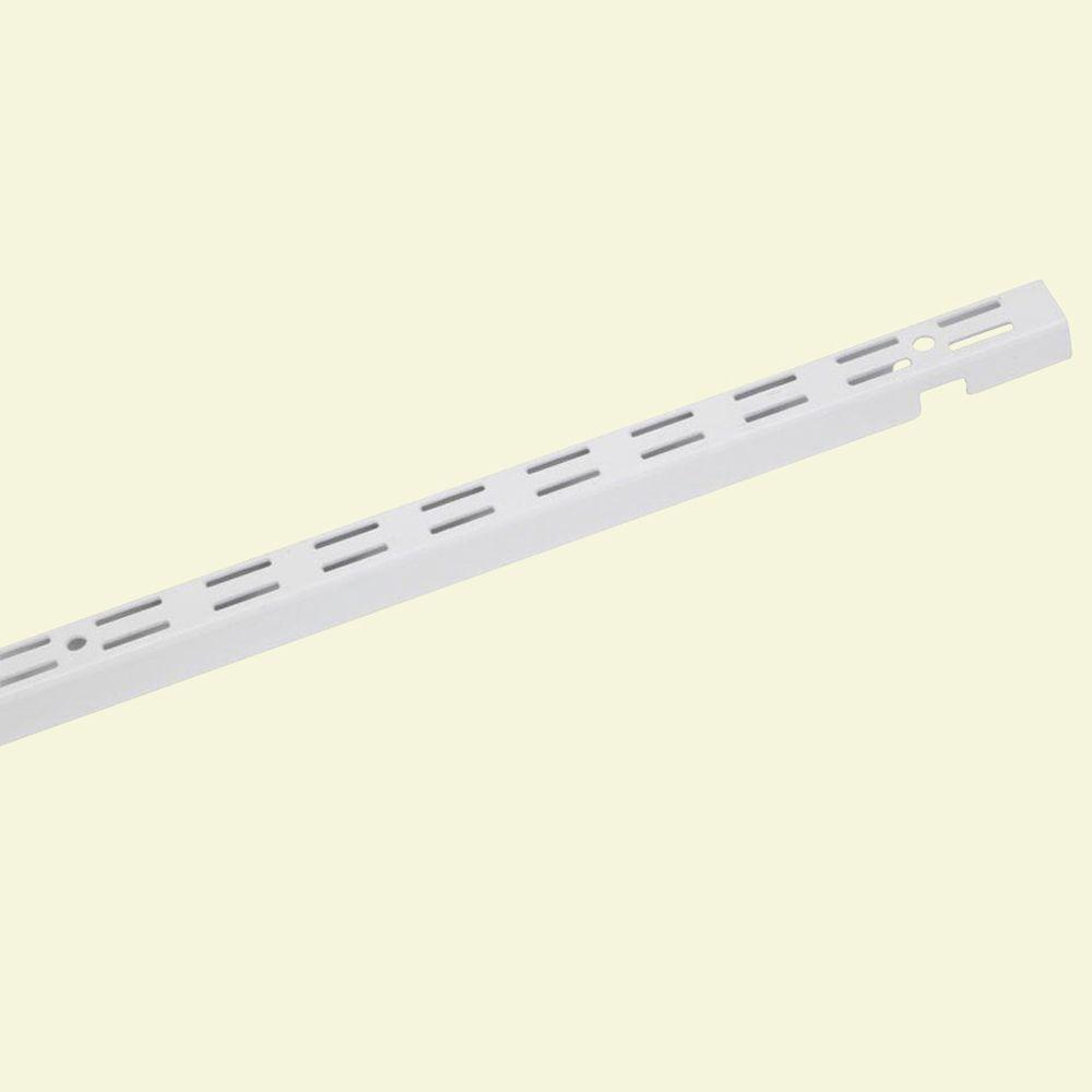 ShelfTrack 84 in. x 1 in. White Standard