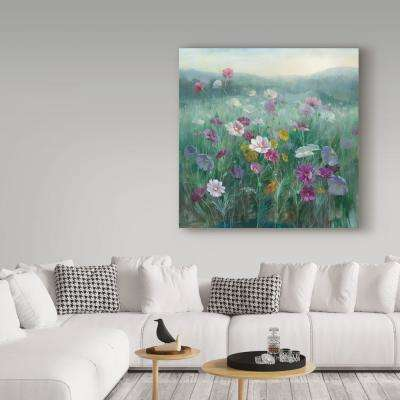 "35 in. x 35 in. ""Cosmos at Dawn"" by Danhui Nai Printed Canvas Wall Art"