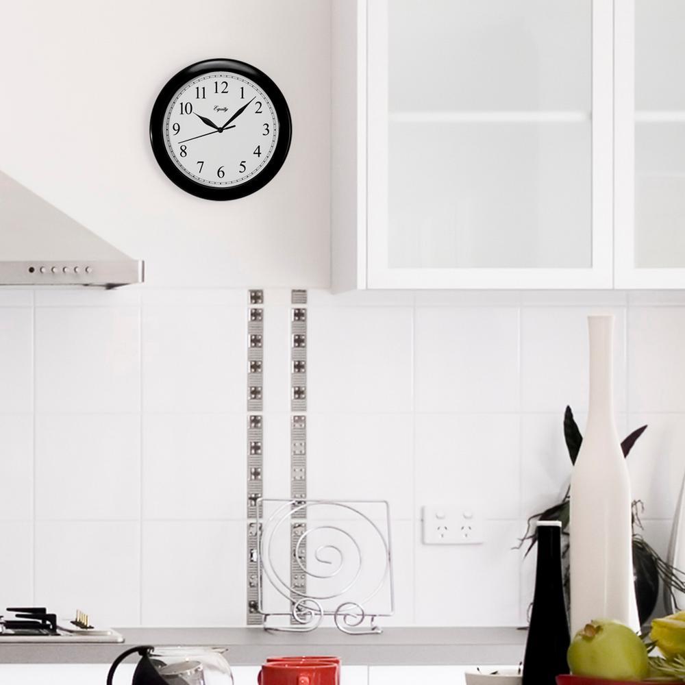 10 in. Black Quartz Wall Clock