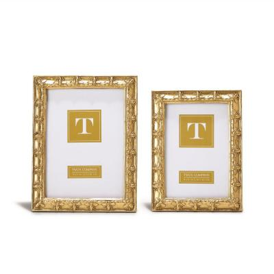 Bee-utiful Gold Resin Picture Frames Includes 2 Sizes: 4 in. x 6 in. and 5 in. x 7 in. (Set of 2)