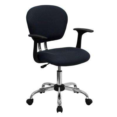 classic office chairs executive midback gray mesh swivel task chair with chrome base and arms classic desk office chairs home furniture