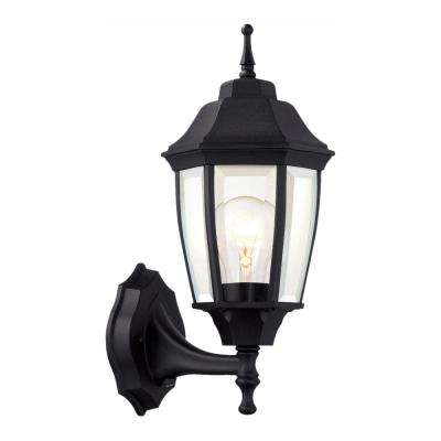 1 Light Black Dusk To Dawn Outdoor Wall Lantern Sconce
