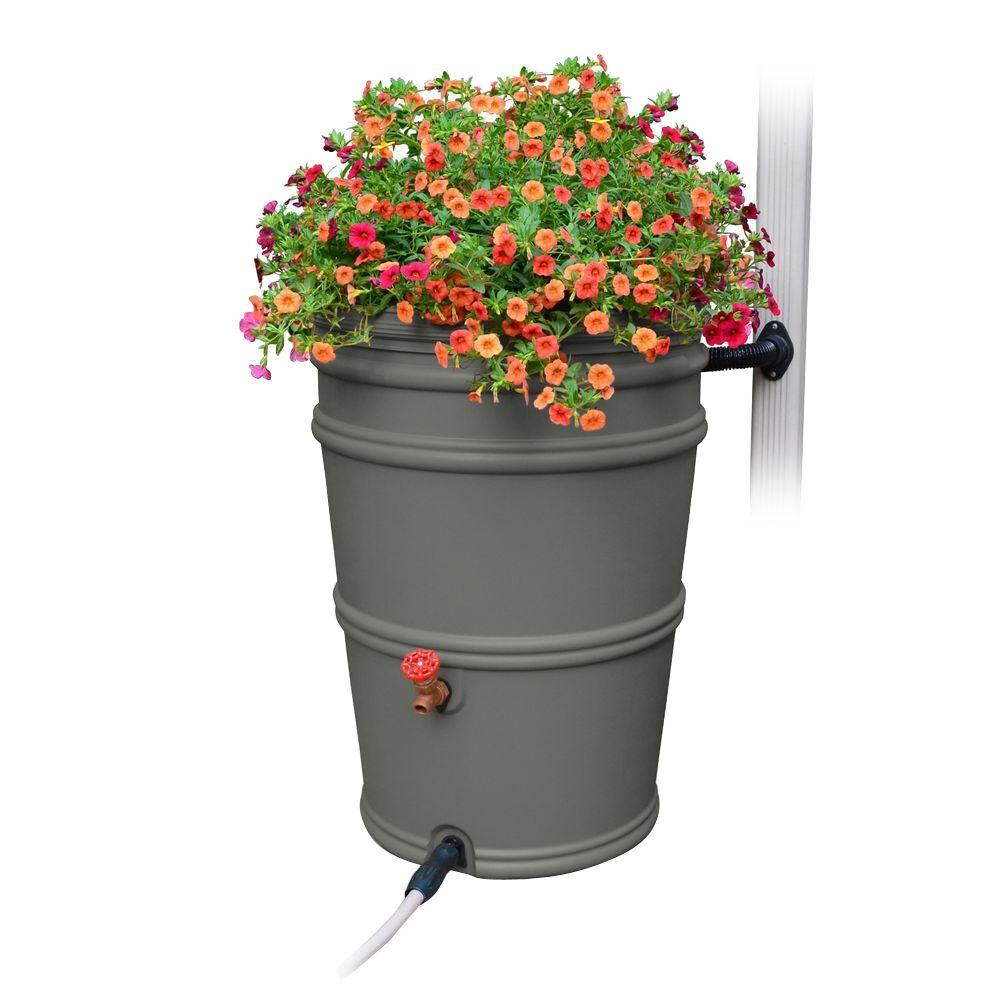 RainStation 45 Gal. Granite Rain Barrel with Diverter