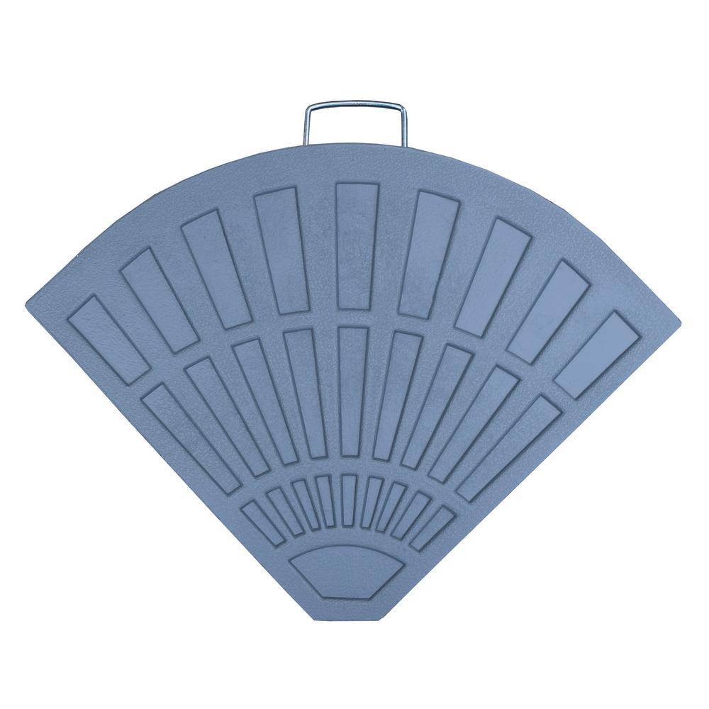 Null Cast Polyresin Patio Umbrella Base Grey