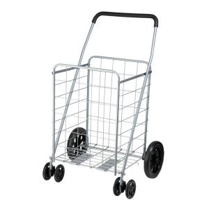 Honey-Can-Do Steel Rolling Dual Wheel Utility Cart in Gray by Honey-Can-Do