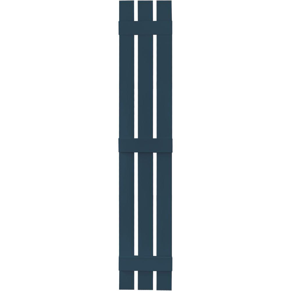 12 in. x 75 in. Board-N-Batten Shutters Pair, 3 Boards Spaced