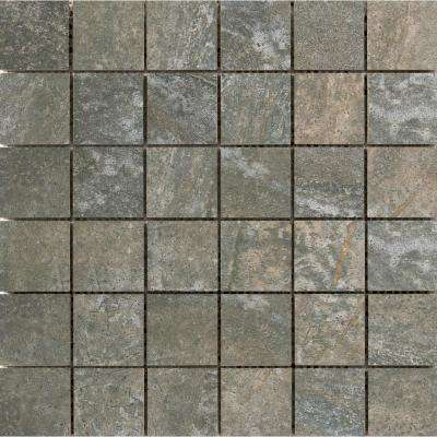 Trovata Scroll 12.99 in. x 12.99 in. x 9mm Porcelain Mesh-Mounted Mosaic Tile (1.17 sq. ft.)