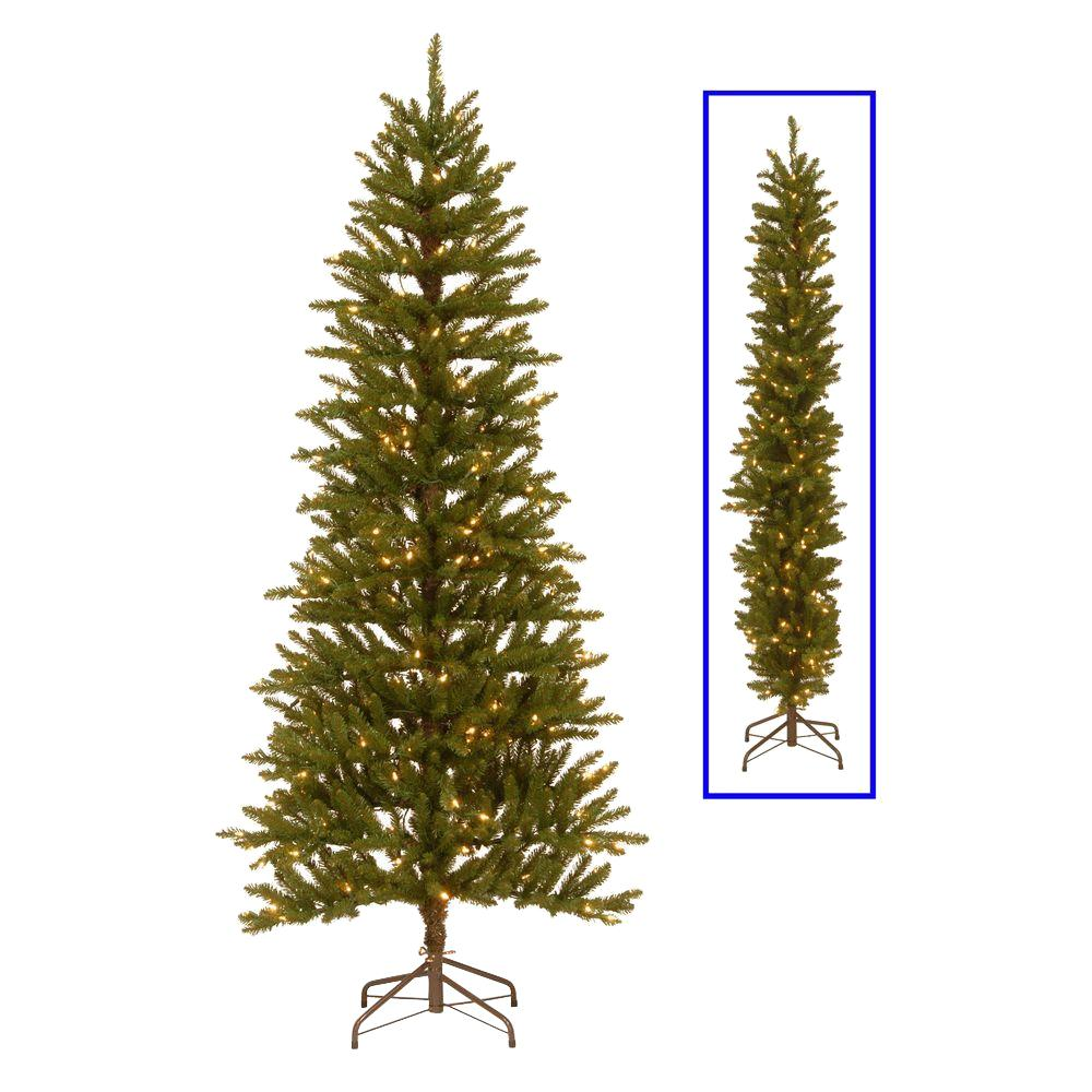 Pre Lit Half Christmas Tree: National Tree Company 6.5 Ft. Kensington 2-Dimensional