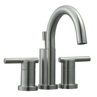 Geneva 4 in. Centerset 2-Handle Bathroom Faucet in Satin Nickel