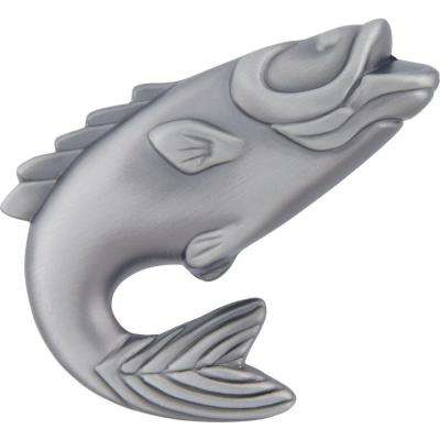 Fish Collection 2-1/4 in. Pewter Fish Cabinet Knob