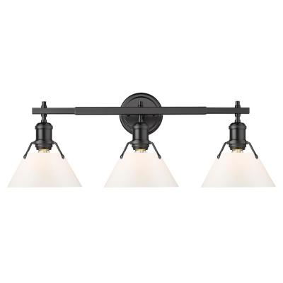 Orwell 4.875 in. 3-Light Matte Black Vanity Light