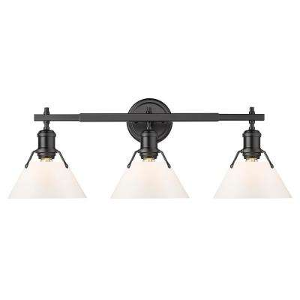 Orwell 4.875 in. 3-Light Matte Black Vanity Light