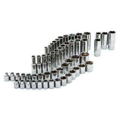 3/8 in. Drive SAE and Metric Socket Set (54-Piece)