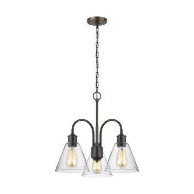 Elsa 3-Light Heirloom Bronze Chandelier