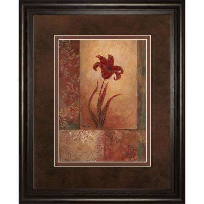 """34 in. x 40 in. """"Lily Silhouette"""" by Vivian Flasch Framed Printed Wall Art"""