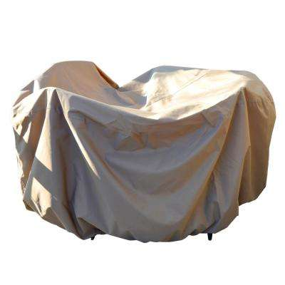 All-Weather Protective Cover for 54 in. Round Table and Chairs with Umbrella Hole