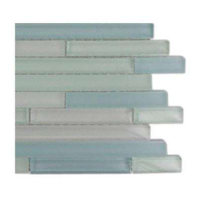 Temple Coast Glass Mosaic Floor and Wall Tile - 3 in. x 6 in. x 8 mm Tile Sample