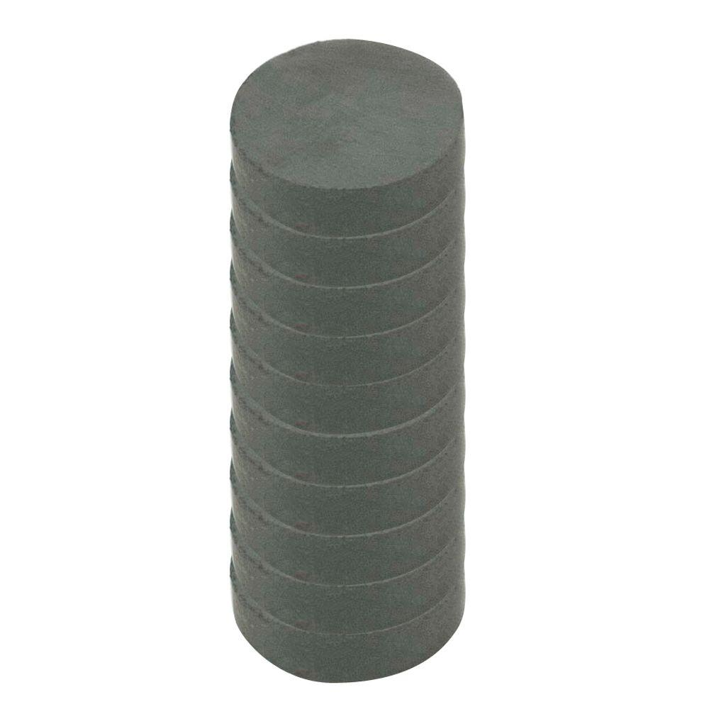 MASTER MAGNETICS 1/2 in. Dia Black Disc Magnet (10 per Pack)