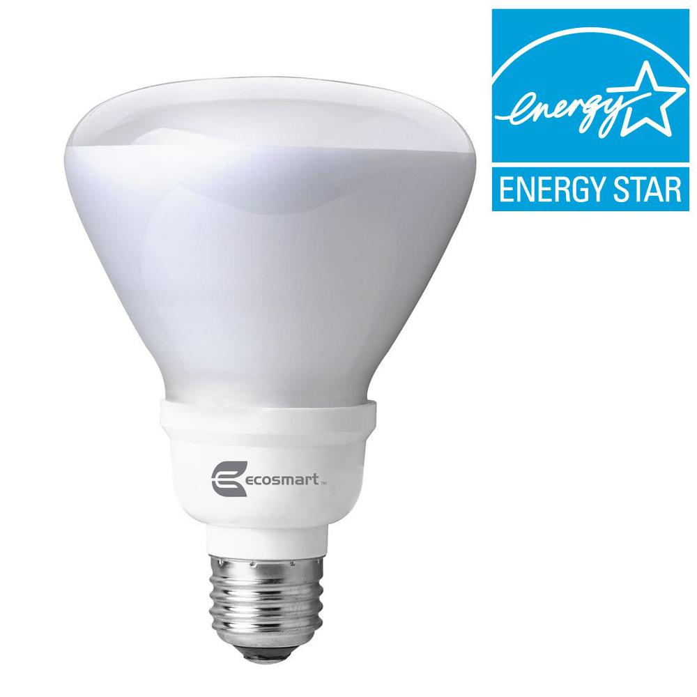 EcoSmart 65W Equivalent Bright White (3500K) R30 Dimmable CFL Flood and Spot Light Bulb
