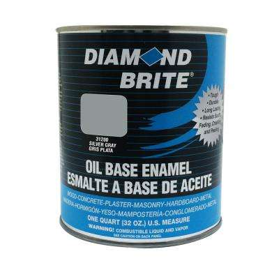 1 qt. Silver Gray Oil Base Enamel Interior/Exterior Paint