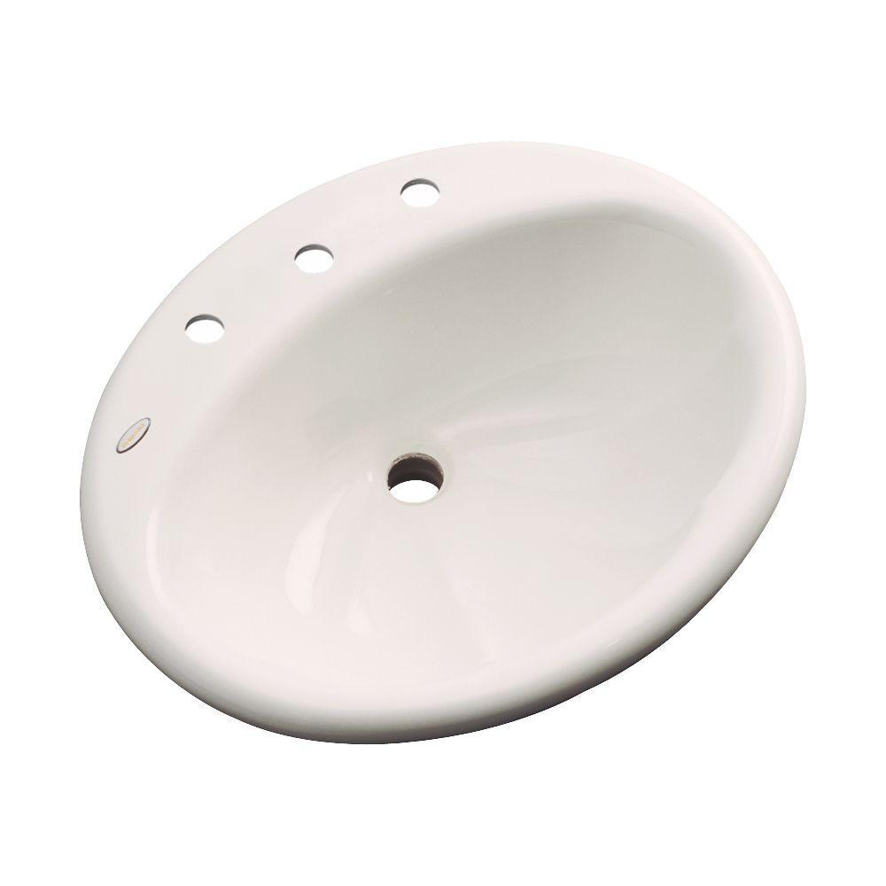 Oceana Designer Drop-In Bathroom Sink in Bone