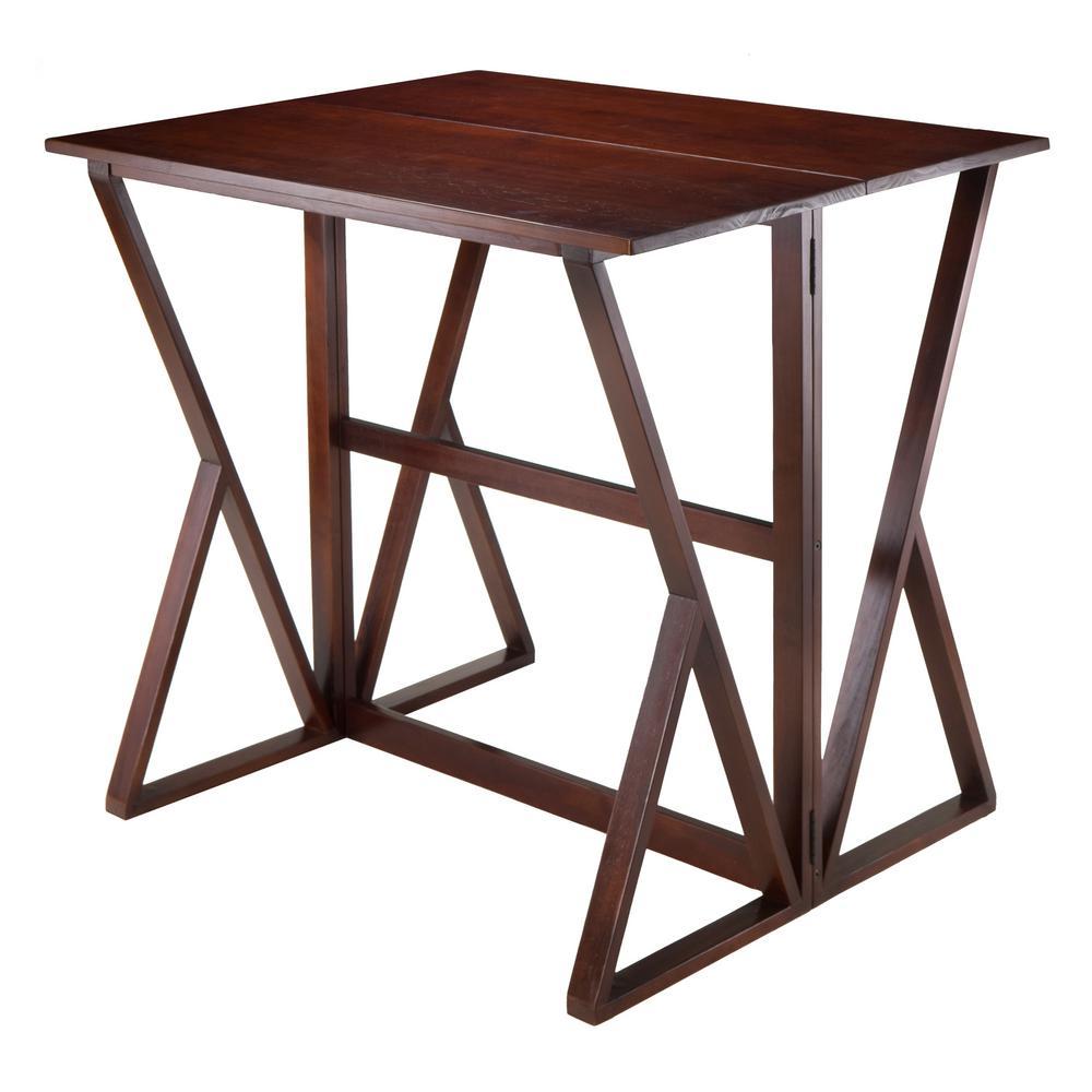 Harrington Walnut Drop Leaf High Table