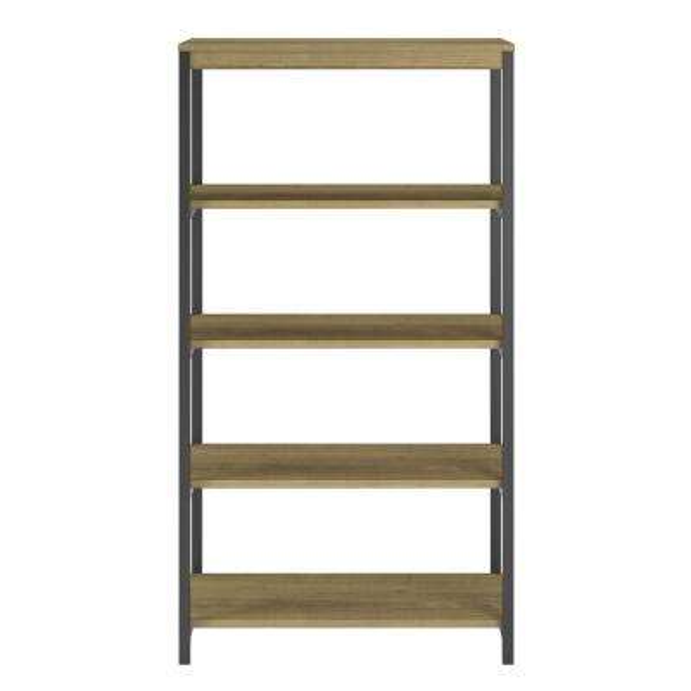Cumbria Golden Oak 5-Shelf Bookcase