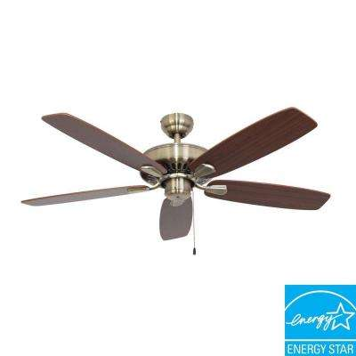 Charleston 52 in. Aged Brass Energy Star Ceiling Fan