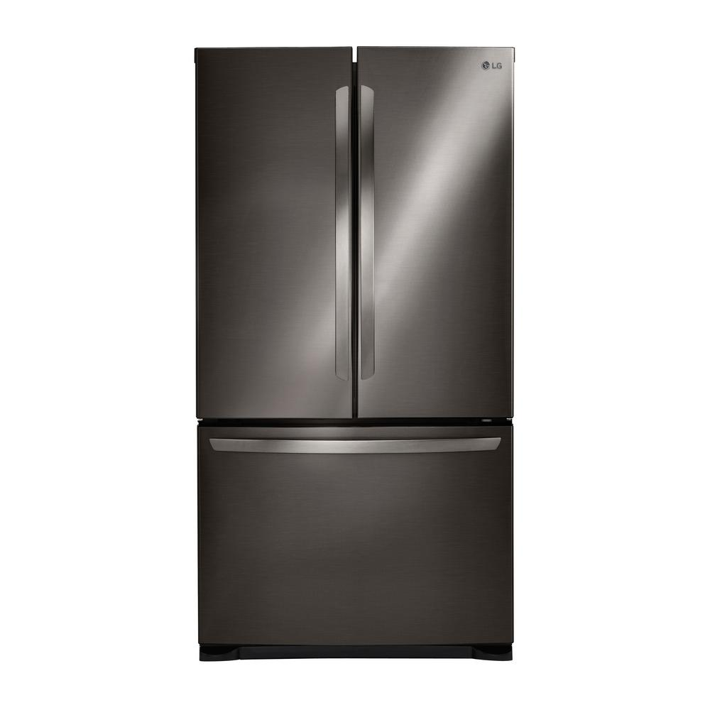 lg electronics 25 4 cu ft 3 door french door refrigerator in black stainless steel lfcs25426d. Black Bedroom Furniture Sets. Home Design Ideas
