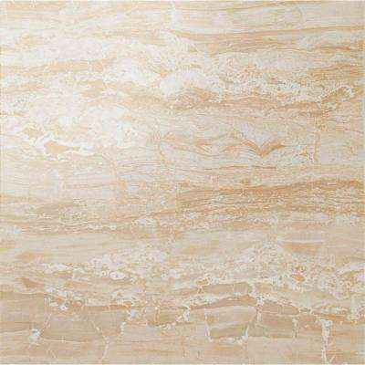Impero Champagne 24 in. x 24 in. Polished Porcelain Floor and Wall Tile (11.63 sq. ft. / case)