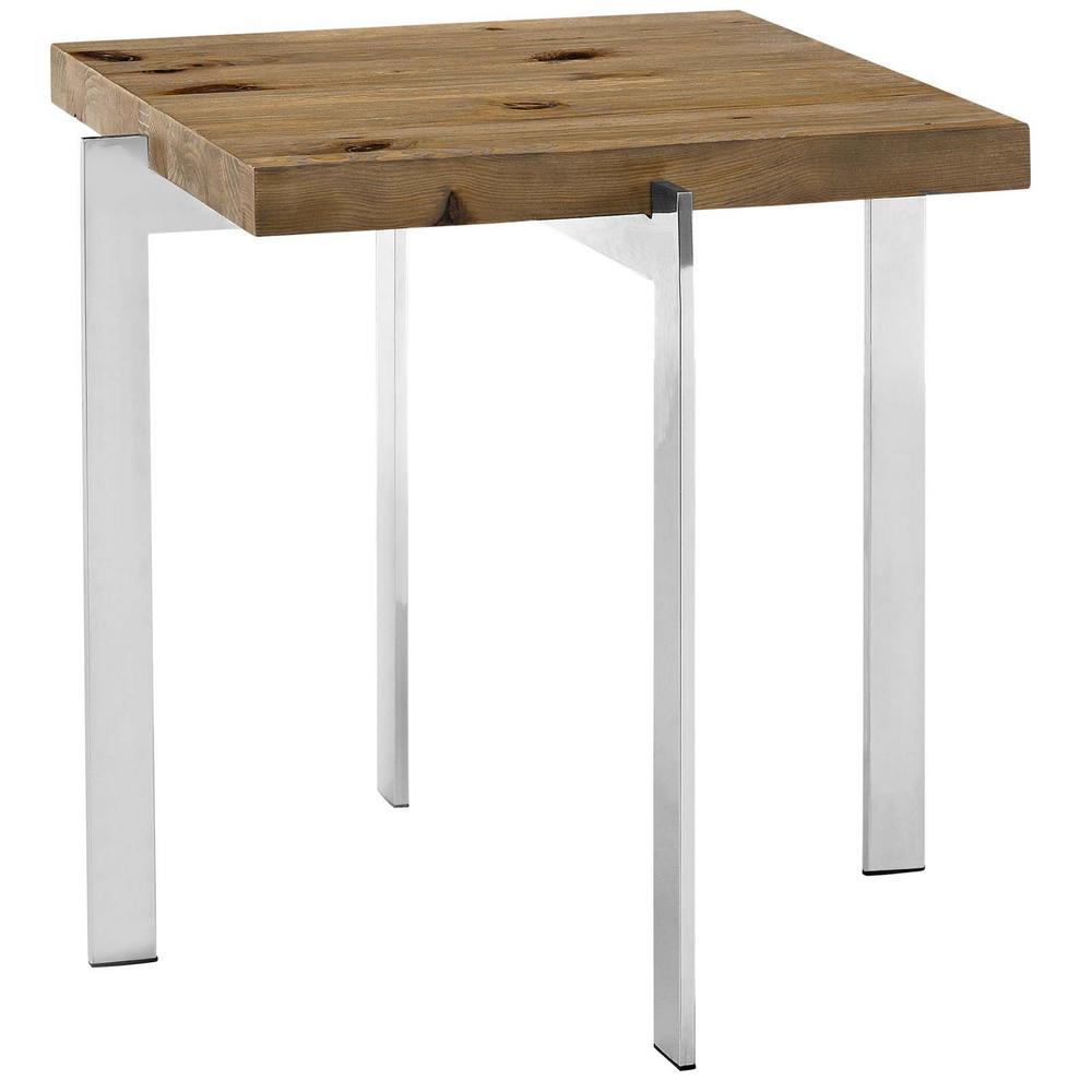 Brown Diverge Wood Side Table