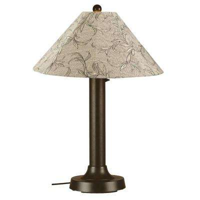Seaside 34 in. Outdoor Bronze Table Lamp with Bessemer Shade