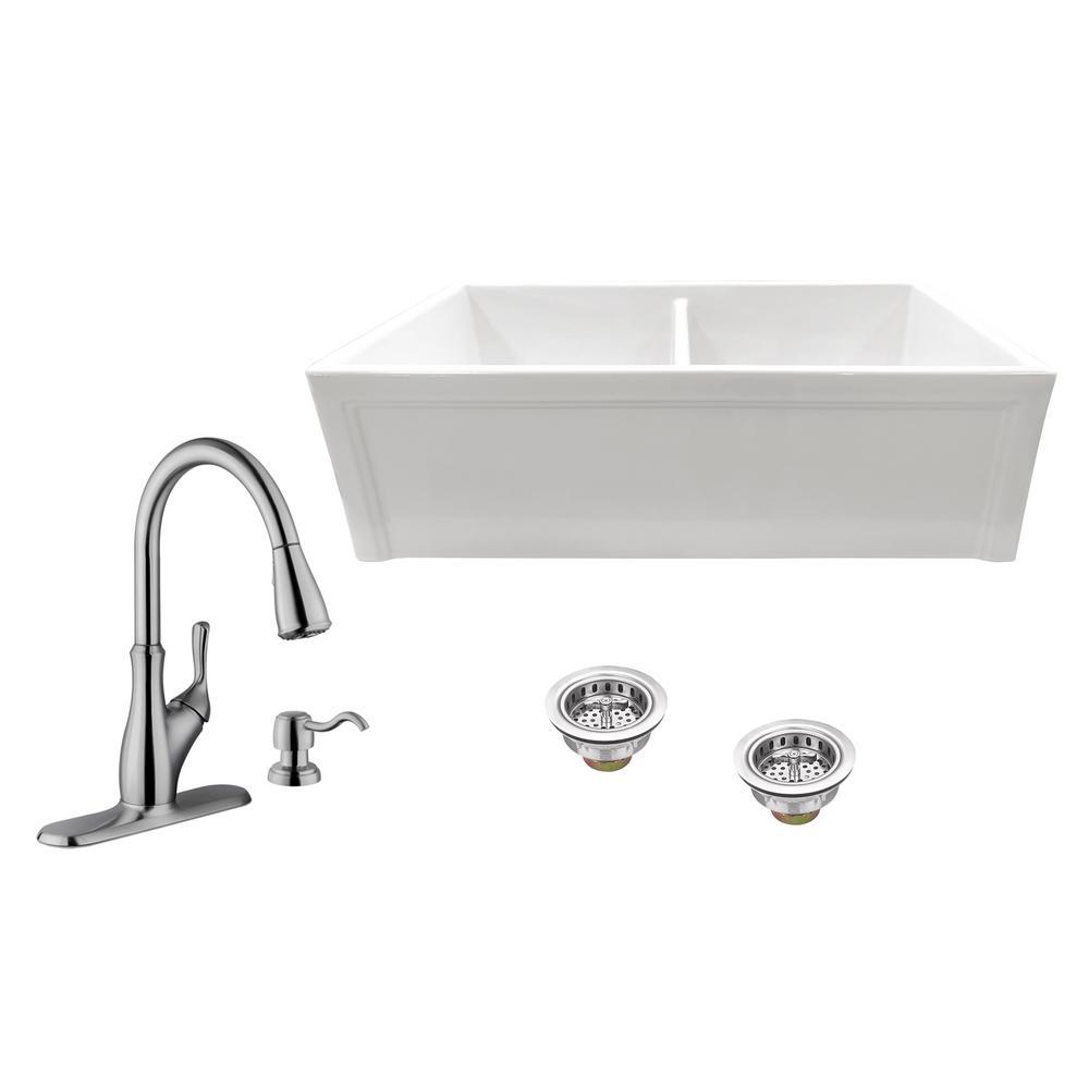 all in one ipt sink company farmhouse apron kitchen sinks rh homedepot com
